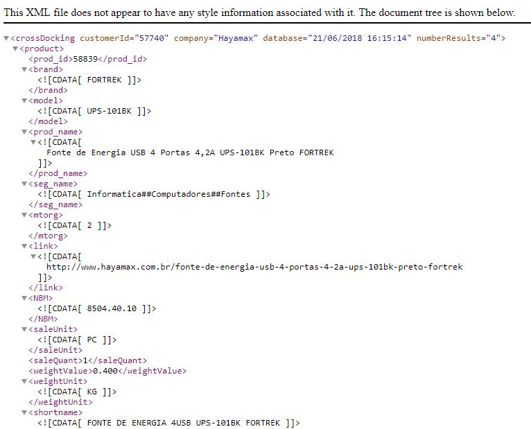 XML Hayamax Programação Produtos